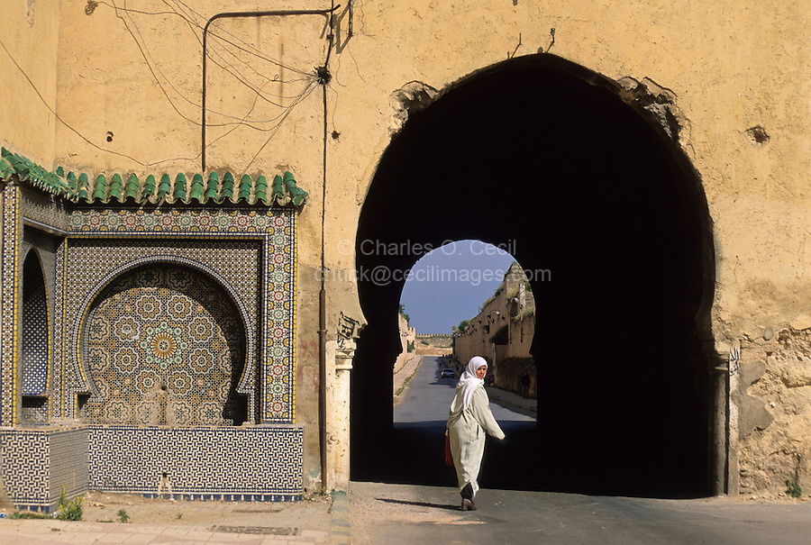Street Scene near the Mausoleum of Moulay Ismail, Meknes, Morocco