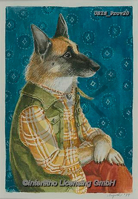 Ingrid, REALISTIC ANIMALS, REALISTISCHE TIERE, ANIMALES REALISTICOS,dog, german sherpherd, paintings+++++,USISPROV20,#a#, EVERYDAY