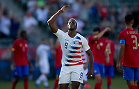 CARSON, CA - FEBRUARY 1: Gyasi Zardes #9 of the United States during a game between Costa Rica and USMNT at Dignity Health Sports Park on February 1, 2020 in Carson, California.