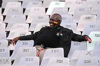 A local fan watches on before the game. Spain defeated Iraq 1-0 during the FIFA Confederations Cup at Free State Stadium, in Mangaung/Bloemfontein South Africa on June 17, 2009.