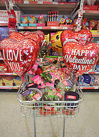ASDA Aphrodisiac for Valentine's Day, Swansea, Wales, UK. Friday 10 February 2017
