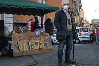 """Representative of the Circolo Gianni Bosio.<br /> <br /> Rome, 01/12/2020. Today, the Nuovo Cinema Palazzo Community held a public assembly (1.) in Rome's San Lorenzo district to protest against the eviction of the """"Nuovo Cinema Palazzo"""" completed by the Italian police forces in the early morning of the 25th of November and to demonstrate against the violent reaction of the Police forces when, in the evening of the same day, a large demo asked to have the chance to hold a public assembly in the square (Piazza dei Sanniti) of the cinema (2.). The public assembly of today saw the participation and the support & solidarity of the representatives of movements, actors, musicians, students, artists, politicians, and citizens of San Lorenzo who told their stories and memories related to the famous Rome's Art and culture occupation (For example, actor Marcello Fonte, Best Actor Award of the 2018 Cannes Film Festival for the film """"Dogman"""", was among the first group of occupiers of the Nuovo Cinema Palazzo). The assembly was interrupted due to bad weather and it was reconvened for Thursday 3rd of December at 12PM. <br /> The Nuovo Cinema Palazzo was occupied the 15th of April 2011, when citizens, movements, workers of the entertainment industry reopened the former """"Palazzo Cinema"""" to prevent the opening of a casino/gambling space. The illegal occupation was intended as a public hub of art, culture, sport and politics, an open space given back to the Community for exchange, discussion, studies, caring and sharing. <br /> <br /> Footnotes & Links:<br /> 1. http://bit.do/fLxfP <br /> 2. Demo And Clashes Against Nuovo Cinema Palazzo Eviction in Rome's San Lorenzo: http://bit.do/fLxgz<br /> Previous Stories about Nuovo Cinema Palazzo:  14.04.2018 - Nuovo Cinema Palazzo's Concert: """"7 Anni di CasiNò   7 Anni di Liberazione"""" http://bit.do/fLxkx"""