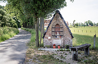 roadside chapel in the Heyveld street in Brakel<br /> <br /> cycling hotspots & impressions in the Vlaamse Ardennen (Flemish Ardennes) along the 181km Spartacus (Chasing Cancellara) cycling route<br /> <br /> Cycling In Flanders <br /> Flanders Tourist Board<br /> <br /> ©kramon