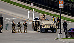 September 5, 2020: Kentucky National Guard assist at an entrance on Kentucky Derby Day at Churchill Downs in Louisville, Kentucky. Numerous planned protests surrounding the death of Breonna Taylor have caused increased security for the event. Scott Serio/Eclipse Sportswire/CSM