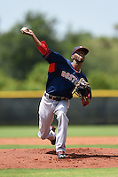 GCL Red Sox pitcher Sergio Gomez (31) delivers a pitch during a game against the GCL Rays on June 24, 2014 at Charlotte Sports Park in Port Charlotte, Florida.  GCL Red Sox defeated the GCL Rays 5-3.  (Mike Janes/Four Seam Images)