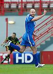 Hamilton Accies v St Johnstone..23.10.10  .Sam Parkin celebrates his goal.Picture by Graeme Hart..Copyright Perthshire Picture Agency.Tel: 01738 623350  Mobile: 07990 594431