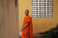 Smiling monk in a Monastery, Battambang, Cambodia