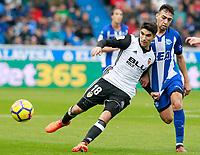 Deportivo Alaves' Munir El Haddadi (r) and Valencia CF's Carlos Soler during La Liga match. October 28,2017. (ALTERPHOTOS/Acero) /NortePhoto.com