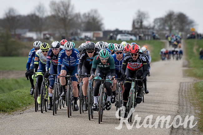 Pretty soon after leaving the start and due to strong tailwinds/crosswinds, the peloton got split in ceveral groups of which many riders never saw the front of the race again after that...<br /> <br /> 109th Scheldeprijs 2021 (ME/1.Pro)<br /> 1 day race from Terneuzen (NED) to Schoten (BEL): 194km<br /> <br /> ©kramon