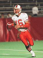 Matt Dunigan BC Lions quarterback. Copyright photograph Scott Grant