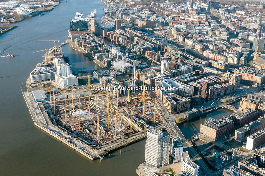 Hafencity Grossbaustelle: EUROPA, DEUTSCHLAND, HAMBURG, (EUROPE, GERMANY), 25.12.2020: Hafencity Grossbaustelle