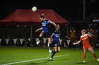 Kansas City, MO - Saturday May 07, 2016: FC Kansas City midfielder Yael Averbuch (10) against the Houston Dash during a regular season National Women's Soccer League (NWSL) match at Swope Soccer Village. Houston won 2-1.