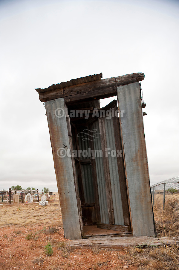 Outhouse at St. Helen Chapel, New Mex.