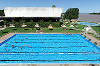 URUGUAY Salto, swimming club at river Rio Uruguay /<br /> URUGUAY Salto, Schwimmbad am Fluss Uruguay