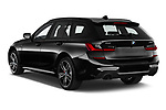 Car pictures of rear three quarter view of 2021 BMW 3-Series-Touring-PHEV M-Sport 5 Door Wagon Angular Rear
