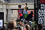 Defending Champion Greg Van Avermaet (BEL) BMC Racing Team at sign on in Compiegne before the start of the 116th edition of Paris-Roubaix 2018. 8th April 2018.<br /> Picture: ASO/Pauline Ballet | Cyclefile<br /> <br /> <br /> All photos usage must carry mandatory copyright credit (© Cyclefile | ASO/Pauline Ballet)