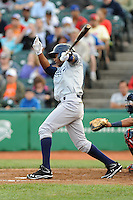 Staten Island Yankees outfielder Ravel Santana (11) during game against the Brooklyn Cyclones at MCU Park on June 18, 2012 in Brooklyn, NY.  Brooklyn defeated Staten Island 2-0.  Tomasso DeRosa/Four Seam Images