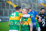 Shane Nolan, Kerry and Daniel  Collins, Kerry after the Joe McDonagh hurling cup fourth round match between Kerry and Carlow at Austin Stack Park on Saturday.