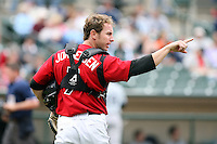 June 1st 2008:  Catcher Ryan Jorgensen of the Rochester Red Wings, Class-AAA affiliate of the Minnesota Twins, during a game at Frontier Field in Rochester, NY.  Photo By Mike Janes/Four Seam Images