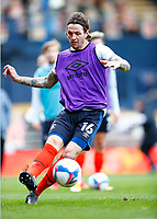 21st November 2020; Kenilworth Road, Luton, Bedfordshire, England; English Football League Championship Football, Luton Town versus Blackburn Rovers; Glen Rea of Luton Town in warm up with team