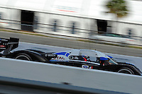 12-15 March 2008, Sebring, Florida, USA.The Peugeot 908 at speed..©F.Peirce Williams 2008, USA .