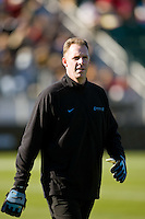North Carolina Tar Heels goalkeeper coach Chris Ducar. The North Carolina Tar Heels defeated the Notre Dame Fighting Irish 2-1 during the finals of the NCAA Women's College Cup at Wakemed Soccer Park in Cary, NC, on December 7, 2008. Photo by Howard C. Smith/isiphotos.com