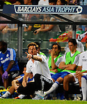 SO KON PO, HONG KONG - JULY 30: Andre Villas-Boas of Chelsea gives instructions to his players during the Asia Trophy Final match against Aston Villa at the Hong Kong Stadium on July 30, 2011 in So Kon Po, Hong Kong.  Photo by Victor Fraile / The Power of Sport Images