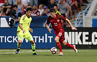 Sandy, UT - Saturday June 3, 2017: The U.S. Men's National team and Venezuela are all square 1-1 during an international friendly tune up match leading up to their WCQ Hex games at Rio Tinto Stadium.