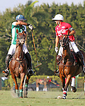 WELLINGTON, FL - FEBRUARY 19:  Costi Caset of Tonkawa and Julian de Lusarreta of Coca Cola. Scenes from the Ylvisaker Cup Final as Coca Cola 9 defeats Tonkawa 8 in overtime with a Golden Goal on a Penalty 2 by Julio Arellano, in the William Ylvisaker Cup Final, at the International Polo Club, Palm Beach on February 19, 2017 in Wellington, Florida. (Photo by Liz Lamont/Eclipse Sportswire/Getty Images)