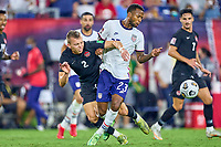 5th September 2021; Nashville, TN, USA;  United States midfielder Kellyn Acosta (23) holds off Canada defender Alistair Johnston (2) during a CONCACAF World Cup qualifying match between the United States and Canada on September 5, 2021 at Nissan Stadium in Nashville, TN.