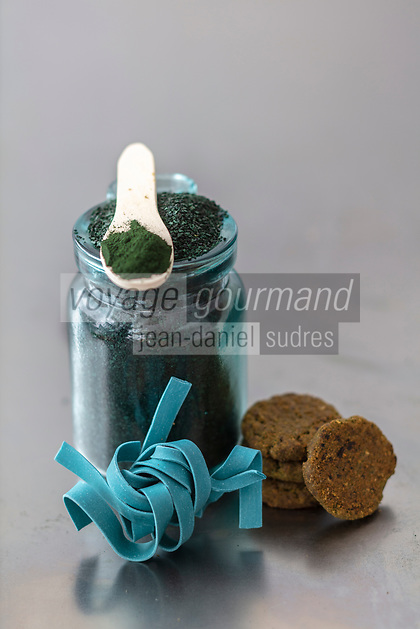 Gastronomie Générale / Diététique // Spiruline  Bio - Produits // General Gastronomy / Diet // Organic Spirulina - Products