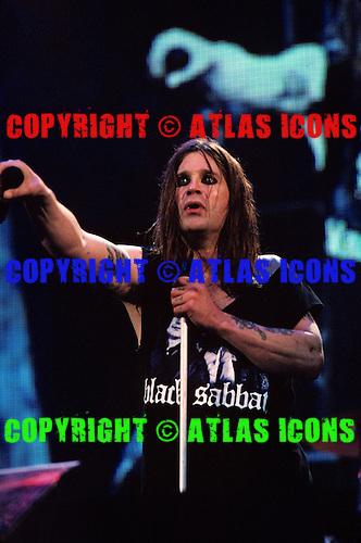Ozzy Osbourne Lead Vocalist of Black Sabbath Live 1999.Photo Credit: Eddie Malluk/Atlasicons.com