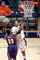 SAN ANTONIO, TX - FEBRUARY 25, 2009: The Northwetern State University Lady Demons vs. The University of Texas at San Antonio Roadrunners Women's Basketball at the UTSA Convocation Center. (Photo by Jeff Huehn)