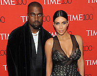 New York, NY- April 21: Kanye West and Kim Kardashian West  attend the TIME 100 Gala at the Frederick P. Rose Hall on April 21, 2015 in New York  City. Credit: John Palmer/MediaPunch