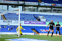 13th September 2020; Portman Road, Ipswich, Suffolk, England, English League One Footballl, Ipswich Town versus Wigan Athletic; The Wigan Athletic players look on helplessly as Teddy Bishop of Ipswich Town scores with a header for 1-0 in the 11th minute