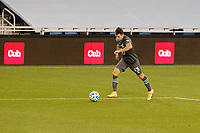 ST PAUL, MN - NOVEMBER 4: Ethan Finlay #13 of Minnesota United FC attacks the ball during a game between Chicago Fire and Minnesota United FC at Allianz Field on November 4, 2020 in St Paul, Minnesota.
