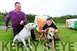 John Cronin, treasurer of the Kerry Beagle Association with his son Michael John and two of their Kerry Beagle's Cloudy & Lucey.