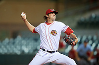 Florida Fire Frogs relief pitcher Chad Sobotka (32) delivers a pitch during a game against the Palm Beach Cardinals on May 1, 2018 at Osceola County Stadium in Kissimmee, Florida.  Florida defeated Palm Beach 3-2.  (Mike Janes/Four Seam Images)