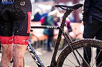 post-race muddy bike<br /> <br /> Jaarmarktcross Niel (BEL) 2020<br />  <br /> ©kramon