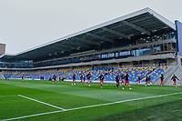 General Main Stand ahead of AFC Wimbledon vs Crawley Town, Emirates FA Cup Football at Plough Lane on 29th November 2020