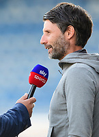 Lincoln City manager Danny Cowley is interviewed for Sky Sports prior to the game<br /> <br /> Photographer Chris Vaughan/CameraSport<br /> <br /> The Carabao Cup First Round - Huddersfield Town v Lincoln City - Tuesday 13th August 2019 - John Smith's Stadium - Huddersfield<br />  <br /> World Copyright © 2019 CameraSport. All rights reserved. 43 Linden Ave. Countesthorpe. Leicester. England. LE8 5PG - Tel: +44 (0) 116 277 4147 - admin@camerasport.com - www.camerasport.com