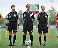 Lierse U16 - Standard de Liege U16 : Ella De Vries , Sharon Sluyts en Hannelore Onsia.foto DAVID CATRY / Nikonpro.be