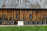 Large barn antique store, Jeffersonville, Vermont, USA.