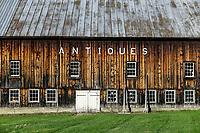 Large barn antique store, Jeffersonville, Vermont, USA.