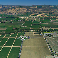 aerial photograph Opus One, Oakville, Napa County, California