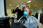 Marlyn Kelly Listowel having her hair done in Sean Taaffe hairdressers, Tralee with stylist Aisling O'Leary.