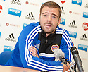 Hearts' Scott Robinson at today's press conference.