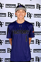 Jonathan Lucio (1) of John F. Kennedy High School in Granada Hills, California during the Baseball Factory All-America Pre-Season Tournament, powered by Under Armour, on January 12, 2018 at Sloan Park Complex in Mesa, Arizona.  (Mike Janes/Four Seam Images)