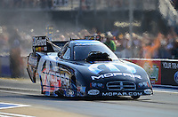 Jun. 15, 2012; Bristol, TN, USA: NHRA funny car driver Matt Hagan during qualifying for the Thunder Valley Nationals at Bristol Dragway. Mandatory Credit: Mark J. Rebilas-