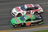 #19: Brandon Jones, Joe Gibbs Racing, Toyota Supra Interstate Batteries,#20: Harrison Burton, Joe Gibbs Racing, Toyota Supra Dex Imaging